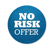 No Risk Offer - Circle Badge Blue